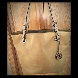 Gold Michael Kors bag